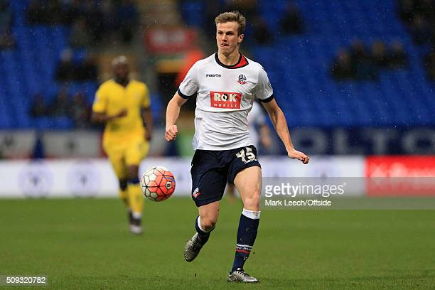 Rob Holding of Bolton in action during the Emirates FA Cup Fourth Round match between Bolton Wanderers and Leeds United at the Macron Stadium on...