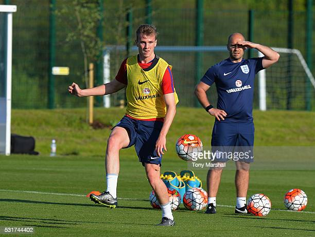 Rob Holding of England U21 during the England U21 Training Session and Press Conference at St Georges Park on May 16 2016 in BurtonuponTrent England