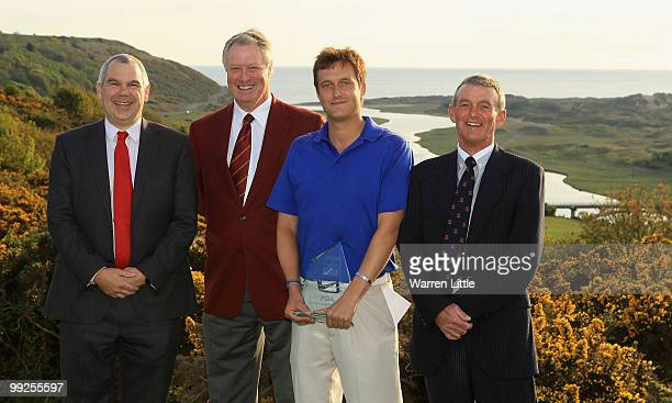 Rob Holt Chief Executive of Ryder Cup Wales 2010 LTD Jim Farmer Captain of the PGA Ian Brown of Newent and Mike Blackman Chairman of Southerndown...