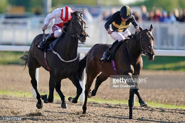 Rob Hornby riding Spirit Warning win The Extra Places At totesport.com Handicap at Chelmsford City Racecourse on June 06, 2019 in Chelmsford, England.