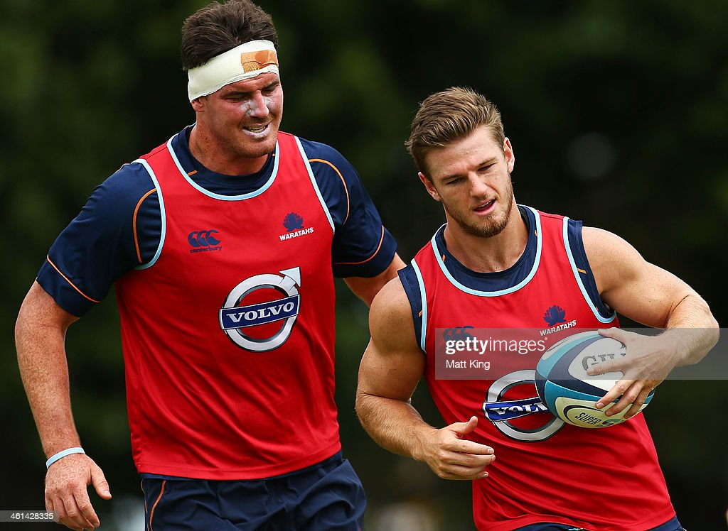 Rob Horne runs with the ball during a Waratahs Super Rugby training sesssion at Moore Park on January 9, 2014 in Sydney, Australia.