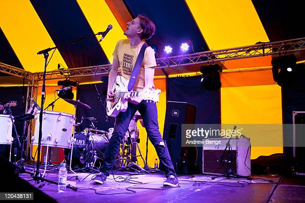 Rob Howe of Polarsets performs on stage during day one of YNot Festival 2011 on August 5 2011 in Matlock United Kingdom