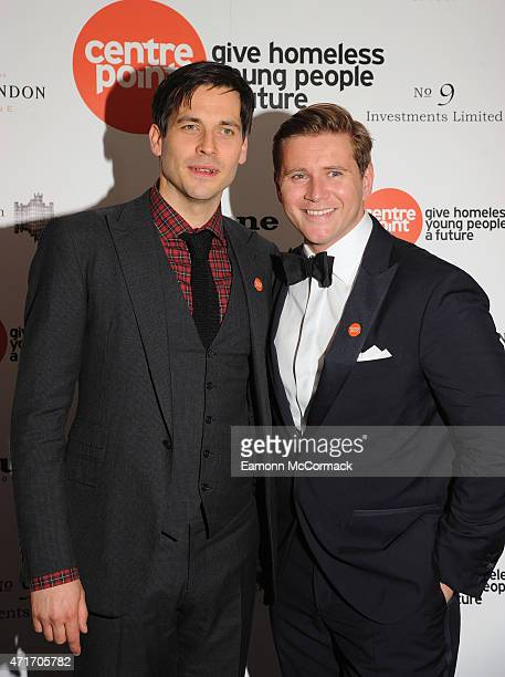 Rob James Collier and Allen Leech attend The Downton Abbey Ball at The Savoy Hotel on April 30 2015 in London England