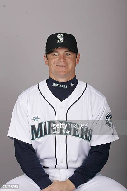 Rob Johnson of the Seattle Mariners poses during photo day at Peoria Sports Complex on February 23 2007 in Peoria Arizona