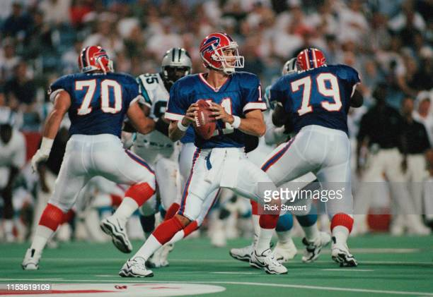 Rob Johnson, Quarterback for the Buffalo Bills during the American Football Conference pre season game against the Carolina Panthers on 14th August...