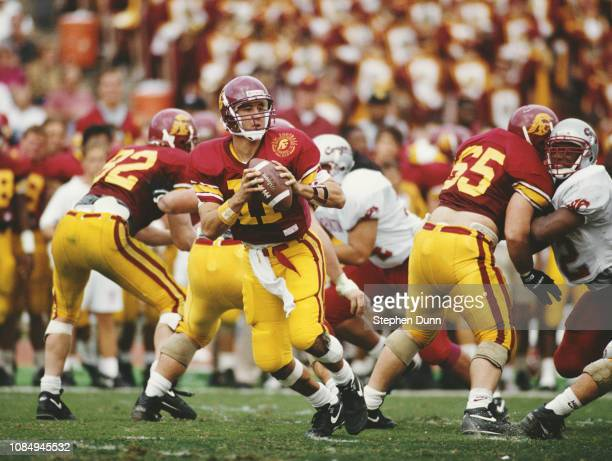 Rob Johnson Quarterback for the University of Southern California USC Trojans runs the ball during the NCAA Pac10 Conference college football game...
