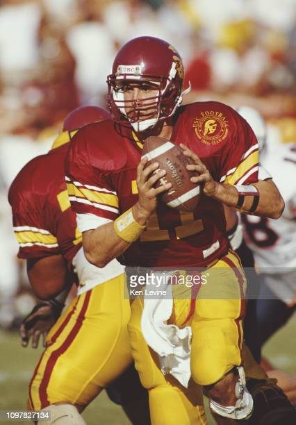 Rob Johnson Quarterback for the University of Southern California USC Trojans prepares for the play during the NCAA Pac10 Conference college football...
