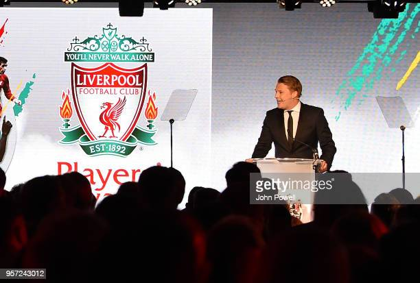 Rob Jones LFC TV presenter during the Player Awards at Anfield on May 10 2018 in Liverpool England