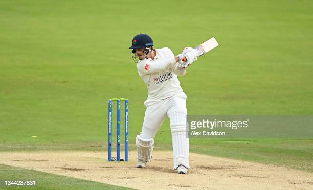 Rob Jones of Lancashire bats during Day 4 of the Bob Willis Trophy Final between Warwickshire and Lancashire at Lord's Cricket Ground on October 01,...