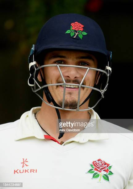 Rob Jones of Lancashire walks out to bat during Day 4 of the Bob Willis Trophy Final between Warwickshire and Lancashire at Lord's Cricket Ground on...