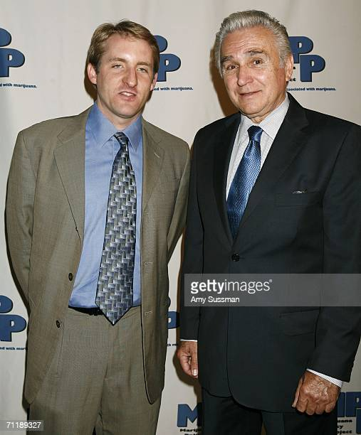 Rob Kampia MPP Executive Director and Rep Maurice Hinchey attend the Marijuana Policy Reform Project Awards at Capitale June 12 2006 in New York City