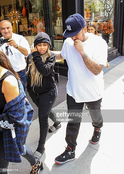 Rob Kardashian and Blac Chyna are seen on April 26 2016 in Los Angeles California