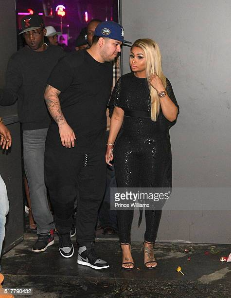 Rob Kardashian and Blac Chyna at Onyx Nightclub on March 27 2016 in Atlanta Georgia
