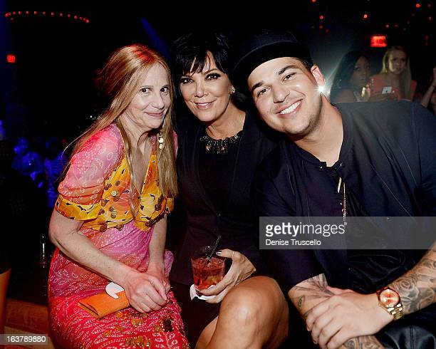 Rob Kardashian celebrates his 26th birthday with his mom Kris Jenner and Cici Bussey at 1 OAK Nightclub at The Mirage Hotel Casino on March 15 2013...