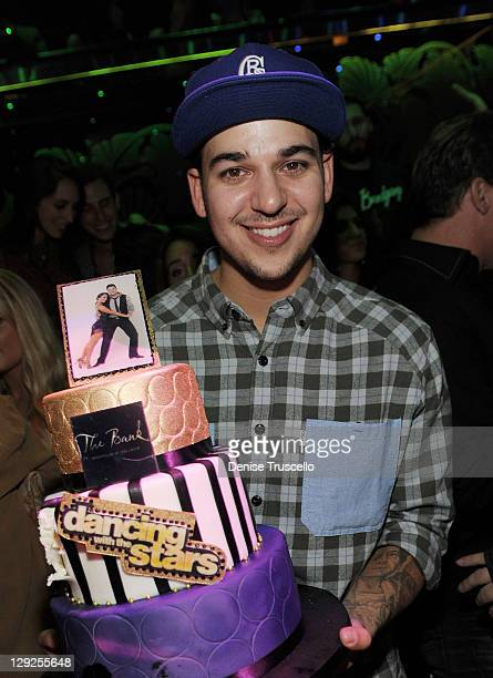 Rob Kardashian hosts at Bank Nightclub Bellagio Hotel And Casino Resort on October 14 2011 in Las Vegas Nevada