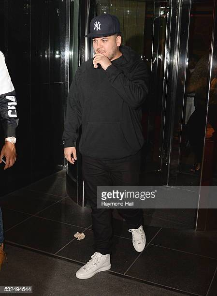Rob Kardashian is see in Manhattan on May 18 2016 in New York City