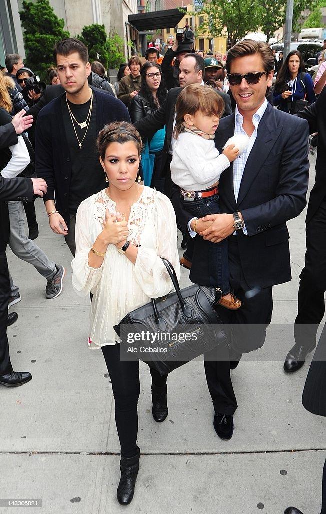 Rob Kardashian, Kourtney Kardashian, Scott Disick and ...