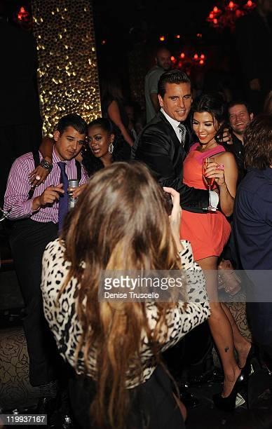 Rob Kardashian Lala Anthony Khloe Kardashian Scott Disick and Kourtney Kardashian celebrate Kim Kardashian's bachelorette party at TAO Nightclub at...