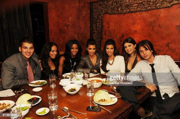 Rob Kardashian Lala Vasquez Ciara Kim Kardashian Kourtney Kardashian Brittny Gastineau and Jonathan Cheban attend TAO Bistro at the Venetian on...