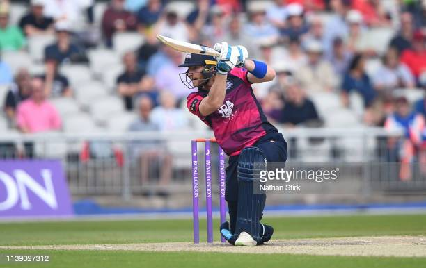 Rob Keogh of Northamptonshire during the Royal London One Day Cup match between Lancashire and Northamptonshire at Emirates Old Trafford on April 24...