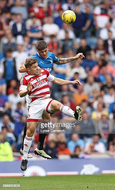 Rob Kiernan of Rangers and Greg Docherty of Hamilton Academical during the Ladbrokes Scottish Premiership match between Rangers and Hamilton...