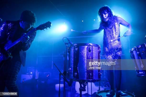 Rob Kolar and Lauren Brown of Kolars perform on stage at Sala Apolo on November 8 2018 in Barcelona Spain