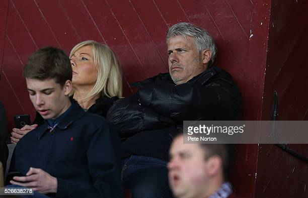 Rob Lee Looks on as he watches his son Olly Lee of Luton Town during the Sky Bet League Two match between Northampton Town and Luton Town at...