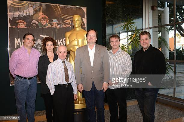 Rob Legato Theresa Rygiel Craig Barron Robert Stromberg Rocco Gioffre and Guy Williams attend The Academy Of Motion Picture Arts And Sciences' VFX...