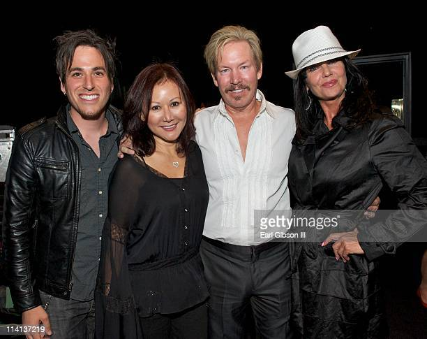 Rob Leifer Grace Ward Wallace Ward and Melissa Prophet appear at the debut of pop recording artist Manika on May 12 2011 in Los Angeles California