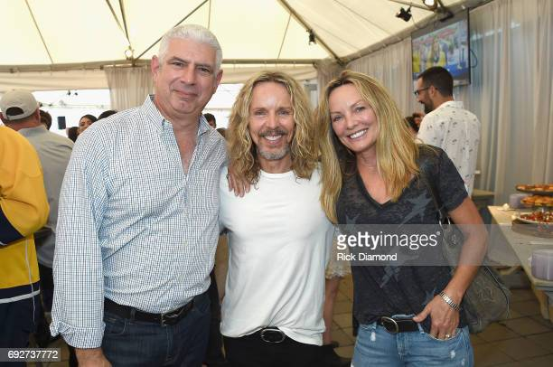 Rob Light, Tommy Shaw and Jeanne Mason attend the 25th Annual CAA BBQ in Nashville at CAA Nashville on June 5, 2017 in Nashville, Tennessee.