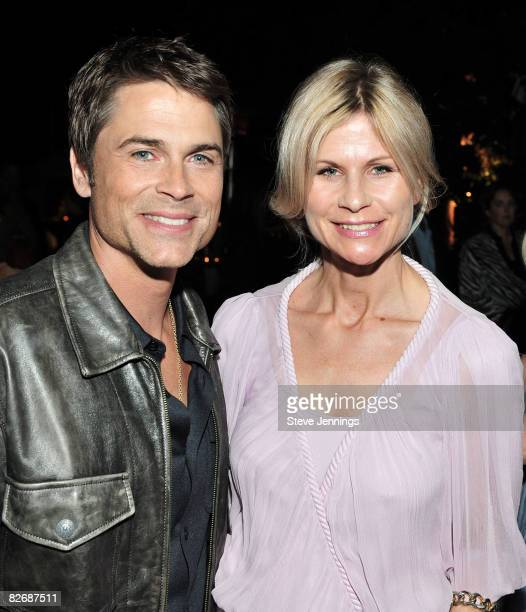 Rob Lowe and Anja Kaehny attend the First Lady's Reception at Chateau Julien on September 5 2008 in Monterey California