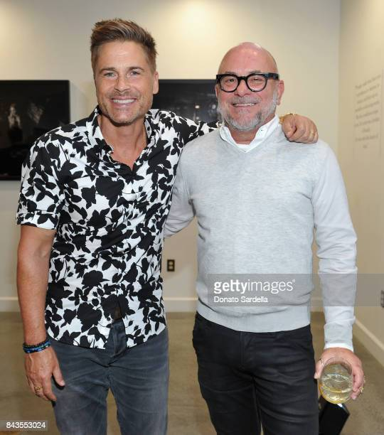 Rob Lowe and celebrity floral and fragrance designer Eric Buterbaugh attend the private opening of Sascha von Bismarck debut photography collection...