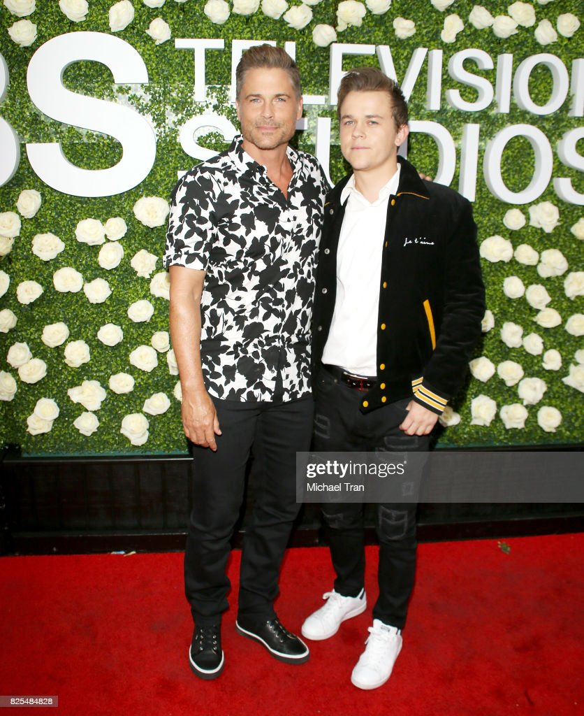 Rob Lowe and Edward Lowe arrive to the 2017 Summer TCA Tour - CBS Television Studios' Summer Soiree held at CBS Studios - Radford on August 1, 2017 in Studio City, California.
