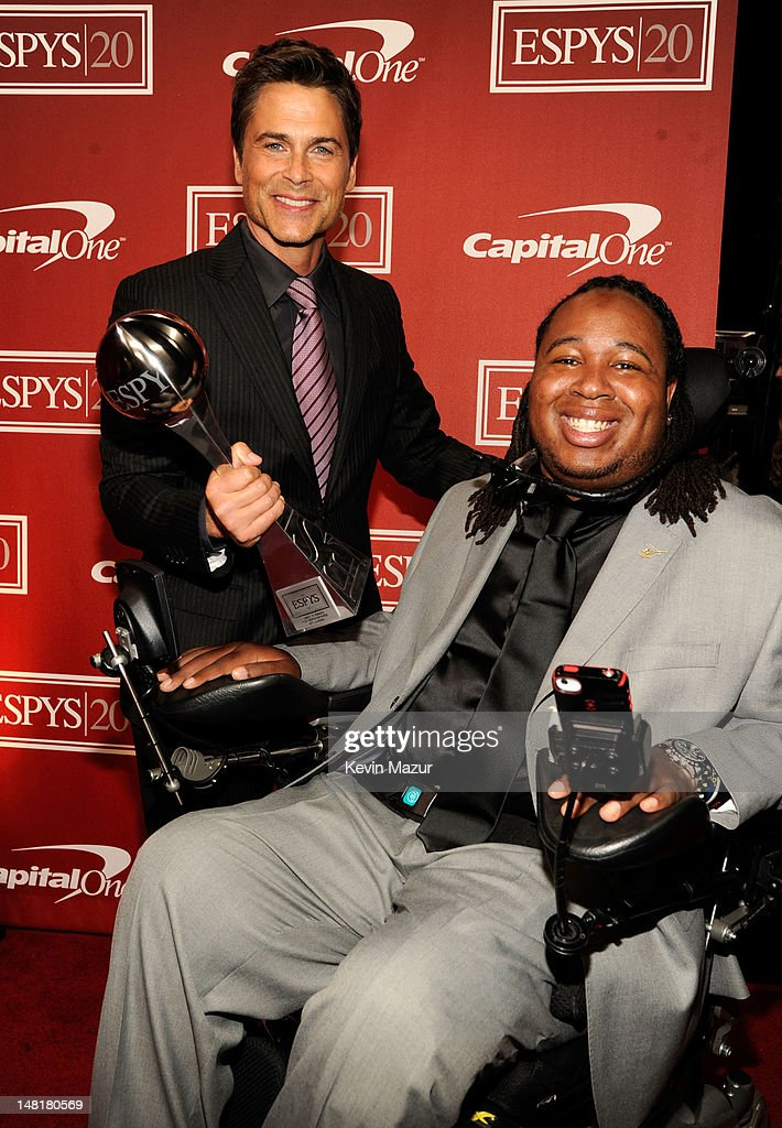 Rob Lowe and Eric LeGrand attend the 2012 ESPY Awards at Nokia Theatre L.A. Live on July 11, 2012 in Los Angeles, California.