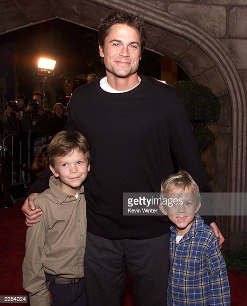 Rob Lowe and his sons Matthew and John Owen at the premiere of Harry Potter and the Sorcerer's Stone in Los Angeles Ca Wednesday November 14 2001...