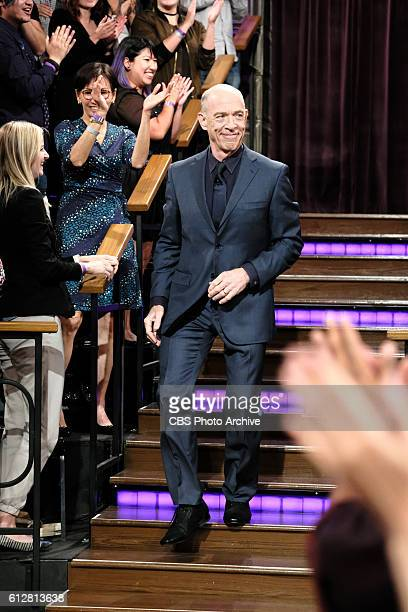 Rob Lowe and JK Simmons chat with James Corden during The Late Late Show with James Corden Tuesday October 4th 2016 On The CBS Television Network