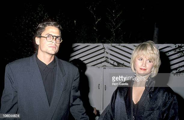 Rob Lowe and Laura Dunlap during 'Dirty Dancing' Hollywood Premiere Party February 11 1989 at Spago's Restaurant in Hollywood California United States