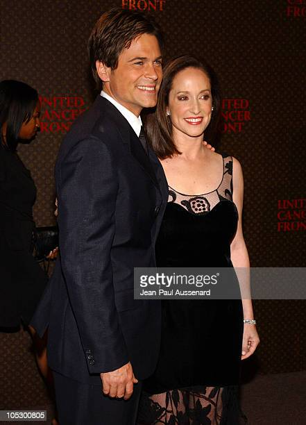 Rob Lowe and Lilly Tartikoff during The Louis Vuitton United Cancer Front Gala Arrivals at Private Residence in Holmby Hills California United States