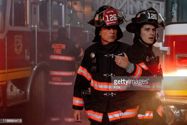 Rob Lowe and Ronen Rubenstein in the Studs episode of 911 LONE STAR airs Monday Feb 10 on FOX