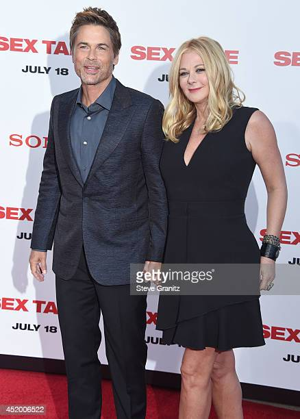 Rob Lowe And Sheryl Berkoff Arrives At The Sex Tape Los Angeles Premiere At