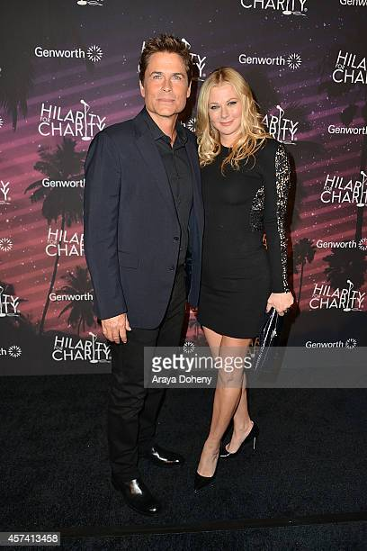 Rob Lowe and Sheryl Berkoff attend the 3rd Annual Hilarity for Charity Variety Show to benefit the Alzheimer's Association presented by Genworth at...