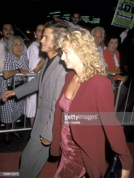 Rob Lowe and Sheryl Berkoff during Commitment To Life IV Los Angeles AIDS Project Benefit September 7 1990 at The Wiltern Theater in Los Angeles...