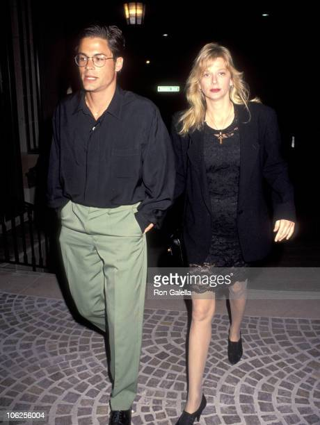 Rob Lowe and Sheryl Berkoff during Rob Lowe Sighting at Stringfellow's in Beveryl Hills April 23 1991 at Stringfellow's in Beverly Hills California...