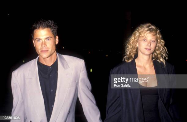 Rob Lowe and Sheryl Berkoff during Wild At Heart Los Angeles Premiere at Cineplex Odeon Theater in Universal City California United States