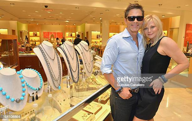 Rob Lowe and Sheryl Lowe attends the Sheryl Lowe Jewelry Design event at Neiman Marcus on March 19 2013 in Coral Gables Florida