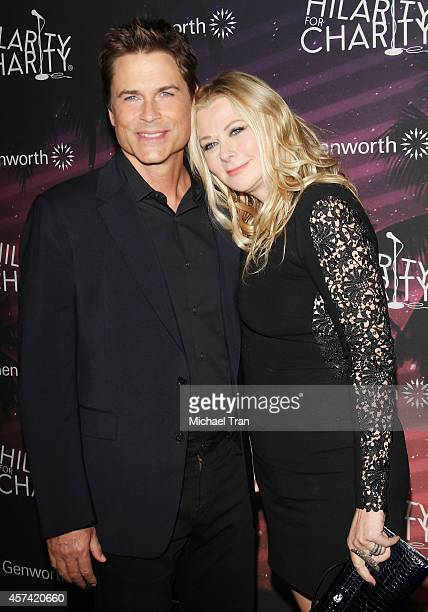 Rob Lowe and wife Sheryl Berkoff arrive at the Hilarity For Charity's 3rd Annual Los Angeles HFC Variety Show held at Hollywood Palladium on October...