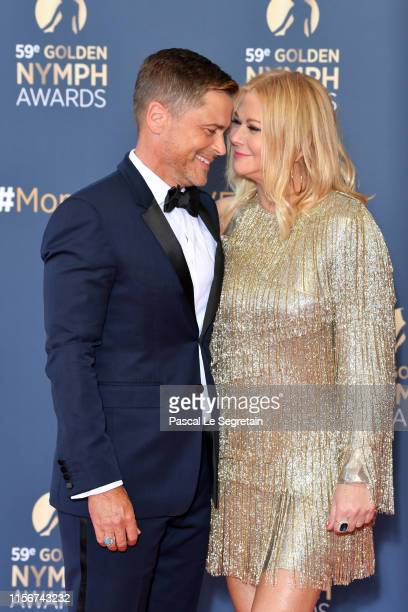 Rob Lowe and wife Sheryl Berkoff attend the closing ceremony of the 59th Monte Carlo TV Festival on June 18 2019 in MonteCarlo Monaco
