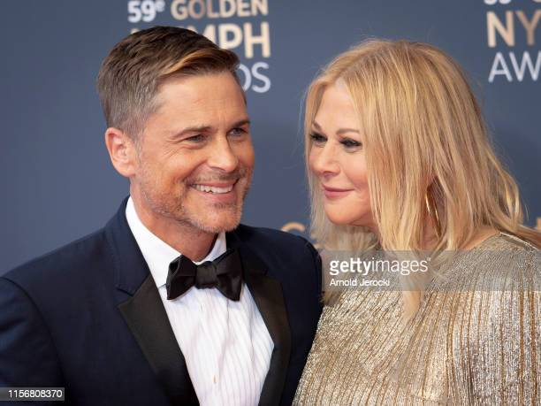 Rob Lowe and wife Sheryl Berkoff attends the closing ceremony of the 59th Monte Carlo TV Festival on June 18 2019 in MonteCarlo Monaco