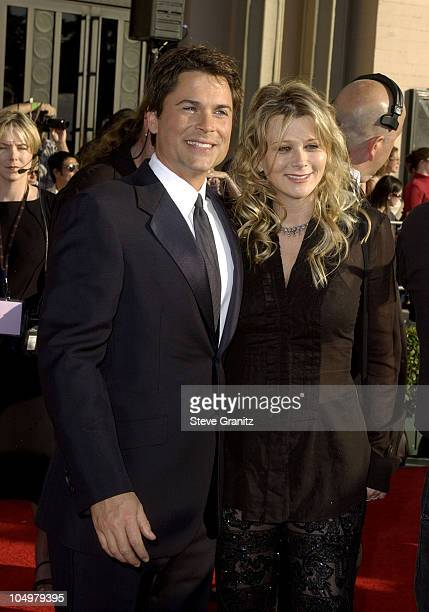 Rob Lowe and wife Sheryl Berkoff during The 8th Annual Screen Actors Guild Awards Arrivals at Shrine Exposition Center in Los Angeles California...