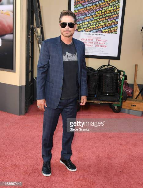 "Rob Lowe arrives at the Sony Pictures' ""Once Upon A Time...In Hollywood"" Los Angeles Premiere on July 22, 2019 in Hollywood, California."